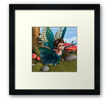 Flying Little Fairy Butterfly Framed Print