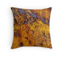 Rusted metal surface Throw Pillow