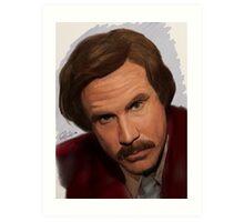 Ron Burgundy-The Anchorman Art Print