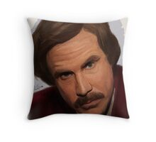 Ron Burgundy-The Anchorman Throw Pillow