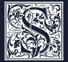 William Morris Renaissance Style Cloister Alphabet Letter S Kids Clothes