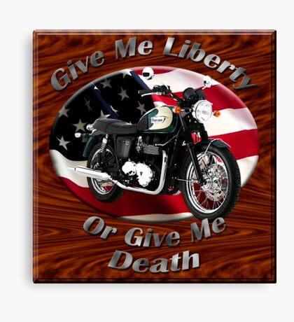 Triumph Bonneville Give Me Liberty Canvas Print