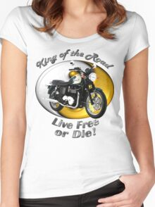Triumph Bonneville King Of The Road Women's Fitted Scoop T-Shirt