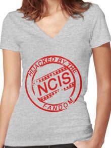 Hijacked by the NCIS Fandom Women's Fitted V-Neck T-Shirt