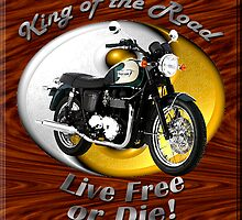 Triumph Bonneville King Of The Road by hotcarshirts