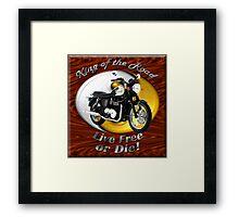 Triumph Bonneville King Of The Road Framed Print