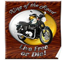 Triumph Bonneville King Of The Road Poster