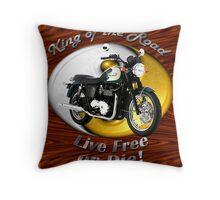 Triumph Bonneville King Of The Road Throw Pillow
