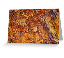 Rusted metal surface Greeting Card