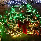 Caboose in Lights by Jane Neill-Hancock