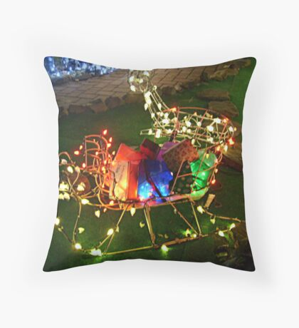 Sleigh Full of Gifts Throw Pillow