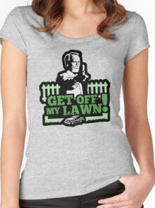 Get off my lawn! Women's Fitted Scoop T-Shirt