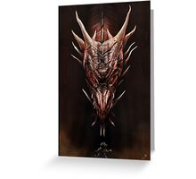 Smaug And The Thief Greeting Card