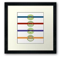 TMNT2k7 - Minimalism Framed Print