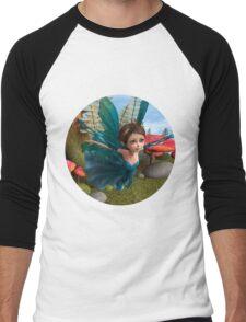 Flying Little Fairy Butterfly Men's Baseball ¾ T-Shirt