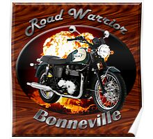 Triumph Bonneville Road Warrior Poster