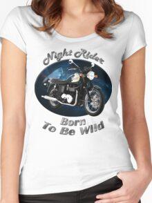 Triumph Bonneville Night Rider Women's Fitted Scoop T-Shirt