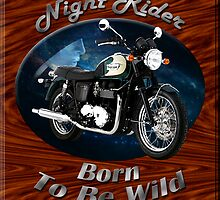 Triumph Bonneville Night Rider by hotcarshirts