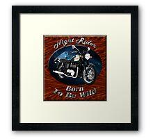 Triumph Bonneville Night Rider Framed Print