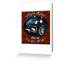 Triumph Bonneville Night Rider Greeting Card