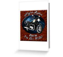 Triumph Bonneville Night Rider Greeting Card