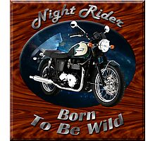 Triumph Bonneville Night Rider Photographic Print