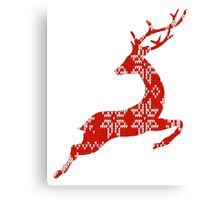 Ugly Christmas Sweater Reindeer Canvas Print