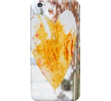 Paper Heart in the Winter iPhone Case/Skin