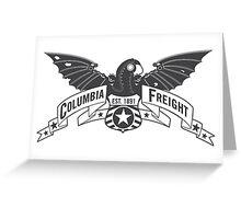 Bioshock Infinite - Columbia Freight (Dark Gray) Greeting Card