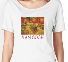 Night Cafe with Billiard Table by Vincent Van Gogh Women's Relaxed Fit T-Shirt