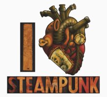 I Heart Steampunk Kids Tee