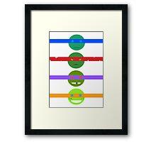 TMNT2k12 - Minimalism Framed Print