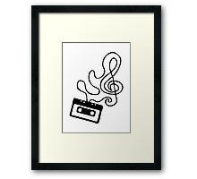 Clef Tape Framed Print