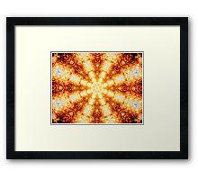 Undulating Tunnels of Molten Light - Abstract Fractal Art Framed Print