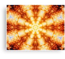 Undulating Tunnels of Molten Light - Abstract Fractal Art Canvas Print