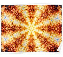 Undulating Tunnels of Molten Light - Abstract Fractal Art Poster