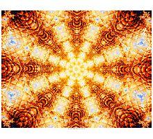 Undulating Tunnels of Molten Light - Abstract Fractal Art Photographic Print