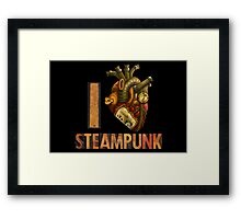 I Heart Steampunk Framed Print