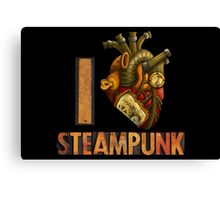 I Heart Steampunk Canvas Print