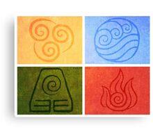 Avatar the Last Airbender - Elements Canvas Print