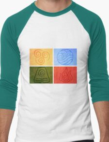 Avatar the Last Airbender - Elements Men's Baseball ¾ T-Shirt