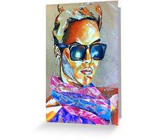 Bright pastel portrait Greeting Card