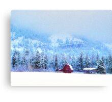 Wyoming Winter Canvas Print