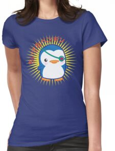 Lil penguin Womens Fitted T-Shirt