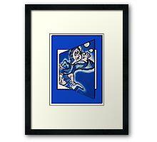 blue boy runnin' Framed Print