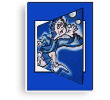 blue boy runnin' Canvas Print