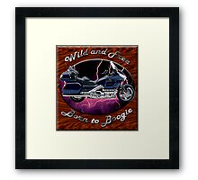 Honda Gold Wing Wild and Free Framed Print