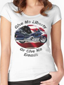 Honda Gold Wing Give Me Liberty Women's Fitted Scoop T-Shirt