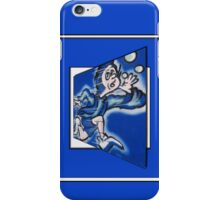 blue boy runnin' iPhone Case/Skin