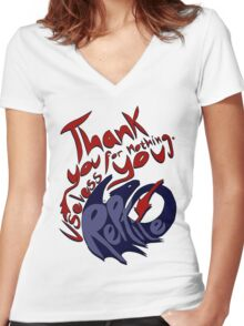 Thank You For Nothing, You Useless Reptile (HTTYD) Women's Fitted V-Neck T-Shirt